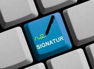 Online Signatur
